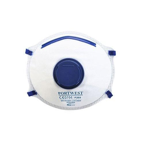 Portwest P203 - FFP2 Valved Dolomite Respirator White - 10 pack