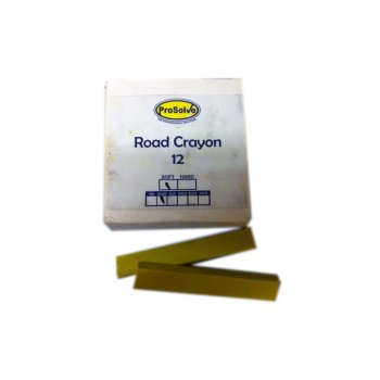 ProSolve SOFT Yellow Road Marking Crayons - Box of 12