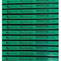 Rexel Blackedge Carpenters Pencil Green - HARD - 10Pack