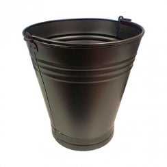 Black Metal Bucket - 16 Litre 33cm