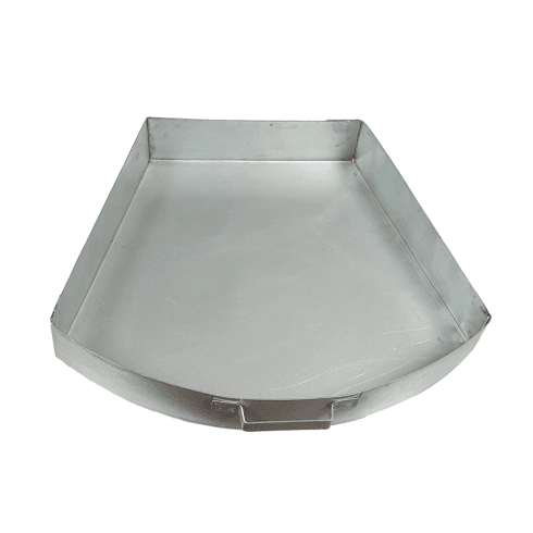 "Round Tower Round Bow Ash Pan for 18"" Open Fireplaces"