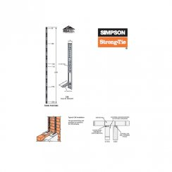 Simpson Strong-Tie Crocodile Wall Starter Kit (Stainless Steel)