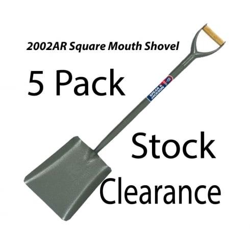 Spear & Jackson Tubular Steel Square Mouth No2 Shovel 2002AR- 5PK