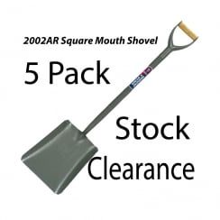 Spear & Jackson Tubular Steel Square Mouth No2 Shovel 2002AR- 5PK