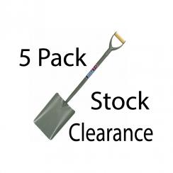 Spear & Jackson Tubular Steel Taper Mouth No2 Shovel 2000AC - 5 Pk