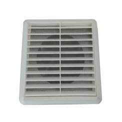 100mm Louvre Vent plus Fly-Screen 3 Colour Choice