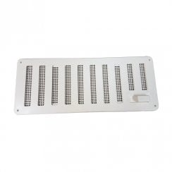 PVC WHITE HIT & MISS VENT 241x89mm BM473