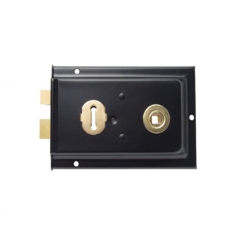 Black Rim Lock - Sash Lock