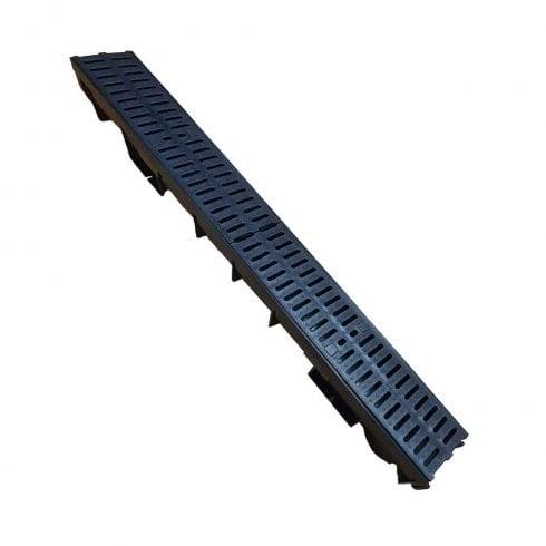 Stora-Drain PVC Drainage Channel 1.0MT inc PVC Grate Heavy Duty 12.5 Tonne Limit (B125)