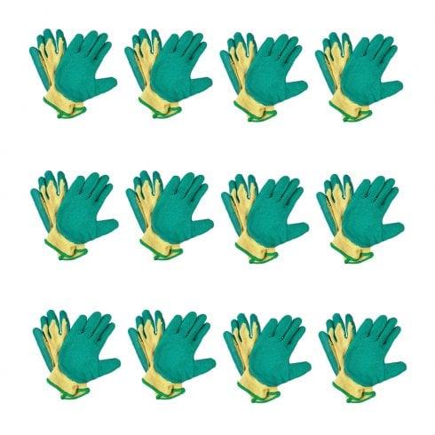 Supertouch Green/Yellow Handler Gloves 62031-5  12Pack