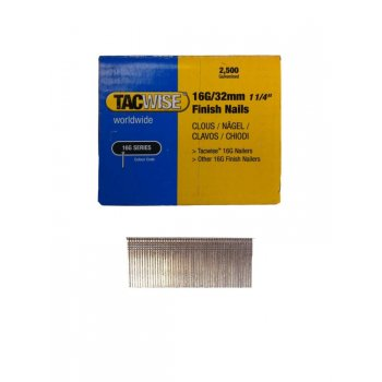 Tacwise 16G/32mm Angled Finish Nails (Box of 2500) 0769