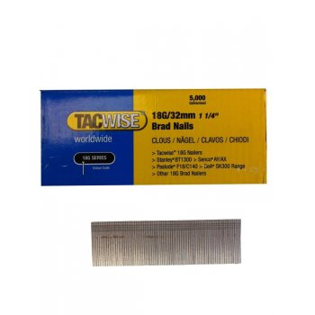 Tacwise 18G/25mm Brad Nails (Box of 5000) 0396