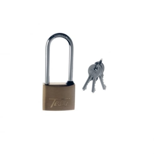 Tessi 40mm Long Shackle Solid Brass Padlock