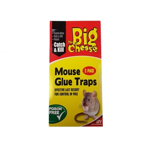 The Big Cheese BIG CHEESE MOUSE GLUE TRAPS(PKT OF 2) STV182