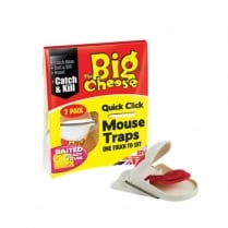 THE BIG CHEESE QUICK CLICK MOUSE TRAP(2 PK)