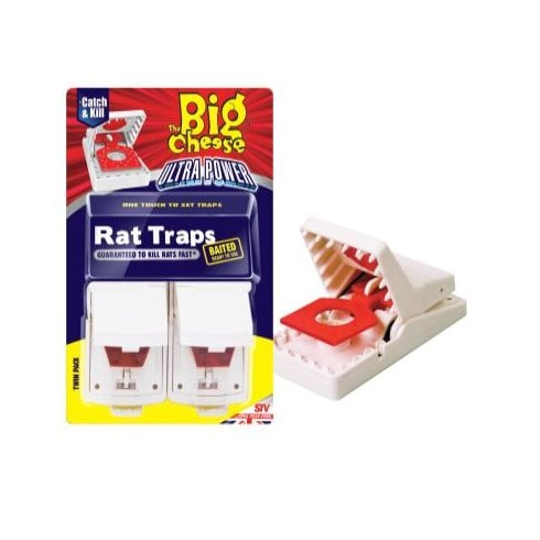 The Big Cheese Ultra Power Rat Traps 2Pk