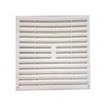 PVC WHITE HIT & MISS VENT 260X235 1210
