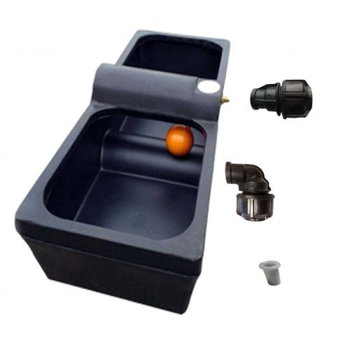Titan 30 Gallon Horse Cattle Drinker Agricultural Water Trough Inc Water Pipe Connector and Pipe Liner