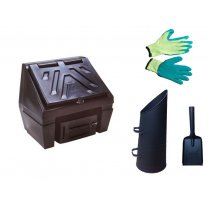 Titan Coal Bunker 3 Bag 150kg, With Options of added Scuttle, Gloves and Shovel