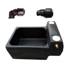 Horse Drinker 12 Gallon/54 Lt Drinking Trough plus fittings