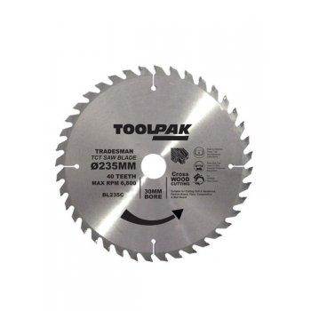 TOOLPAK 235MM CROSS CUT BLADE 40TOOTH BL235C
