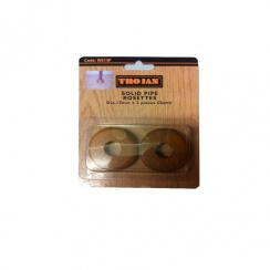 TROJAN SOLID CHERRY PIPE ROSETTES 2PACK
