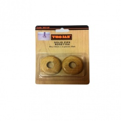 Solid Pipe Rosettes (Oak) 2Pack