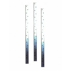 30mmx2.5mmx20no Vertical Wall Plate Restraint Straps-Various Lengths