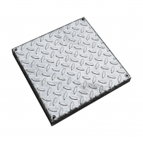 310mm Square Galvanised Chequer Plate Cover