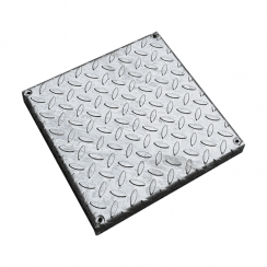 310mm Square Galvanised Chequer Plate Cover - Suitable for Wavin WAJ Frame