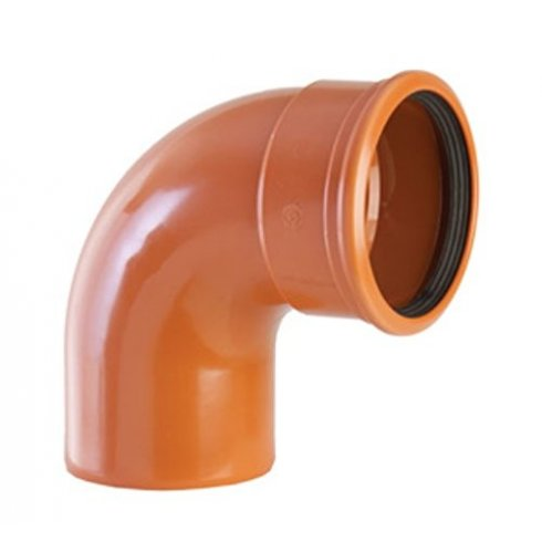 Wavin 110mm Undeground Drainage 87.5 Degree Single Socket s/r Bend