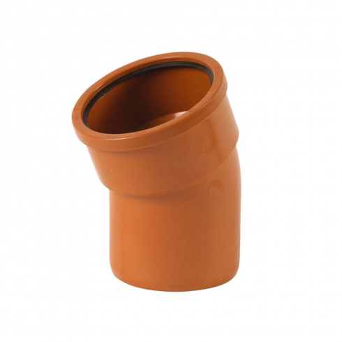 Wavin 110mm Underground Drainage 15° Single Socket Bend (Pack of 5)