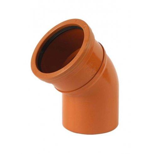 Wavin 110mm Underground Drainage 30 Degree Double Socket Bend