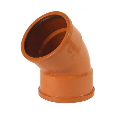 110mm Underground Drainage 45 Degree Double Socket s/r Bend