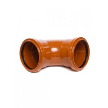 Wavin 110mm Underground Drainage 90 Degree Double Socket Knuckle Bend