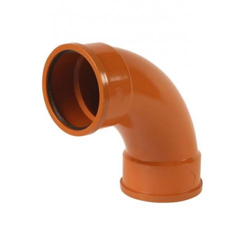 Wavin 110mm Underground Drainage 92.5 Degree Double Socket Bend