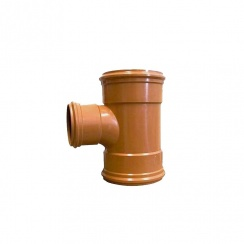 "160mm x 110mm x 90 Degree Underground Drainage Tee Junction Triple Socket (6"")"