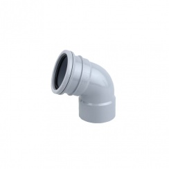 Soil Pipe 67DEG D/S Top Offset Send (GREY)