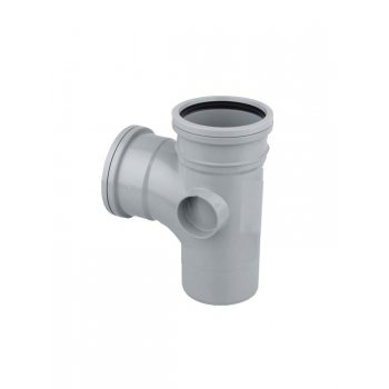 Wavin SOIL PIPE D/S TEE (2BOSS) (GREY)