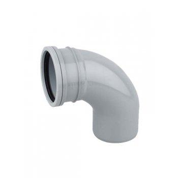 Wavin Soil Pipe Single Socket Bend 92.5DEG  (GREY)