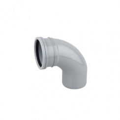 Soil Pipe Single Socket Bend 92.5DEG  (GREY)