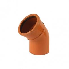 Underground Drainage Bend 160mm 45 Degree Single Socket Bend