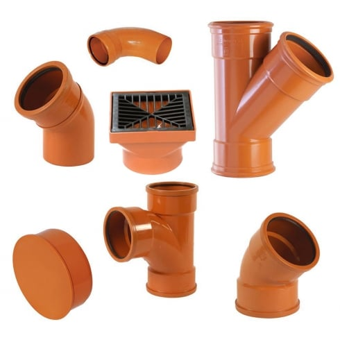 "YDS 110mm (4"") Underground Drainage Pipes, Fittings, Junctions & Bends"