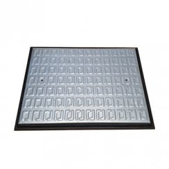 Galvanised Pedestrian Use Manhole Cover 650x490x35mm