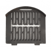"Gerkros Curved Cast Iron Bottom Fire Grate for 16"" Fireplace Opening"
