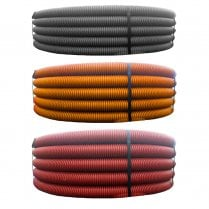 Ridgicoil Flexible Cable Ducting 63mm X 50M (Various Colours)