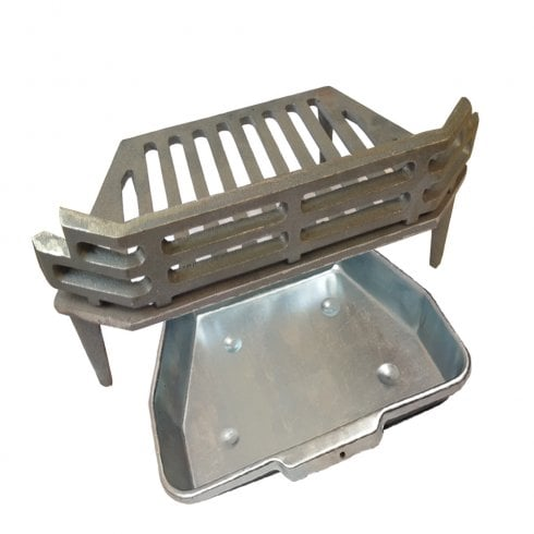 "YDS WW/Victorian Fire Grate and Ash Pan for 16"" Fireplace Opening"