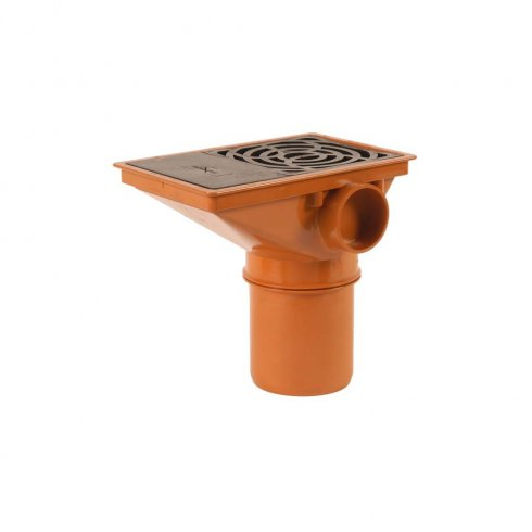 110mm Underground Drainage Rectangle Hopper with Spigot End