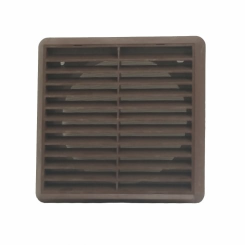 150mm Brown Louvre Vent 275
