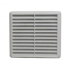 150mm White Louvre Vent 275